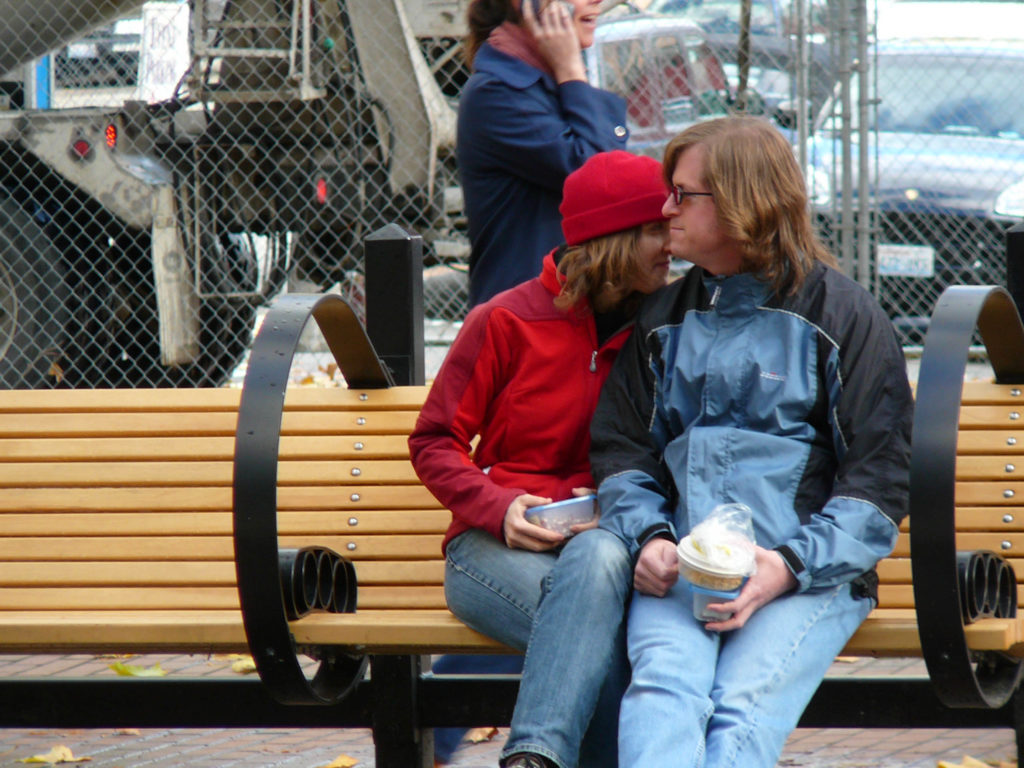 couple in occidental square