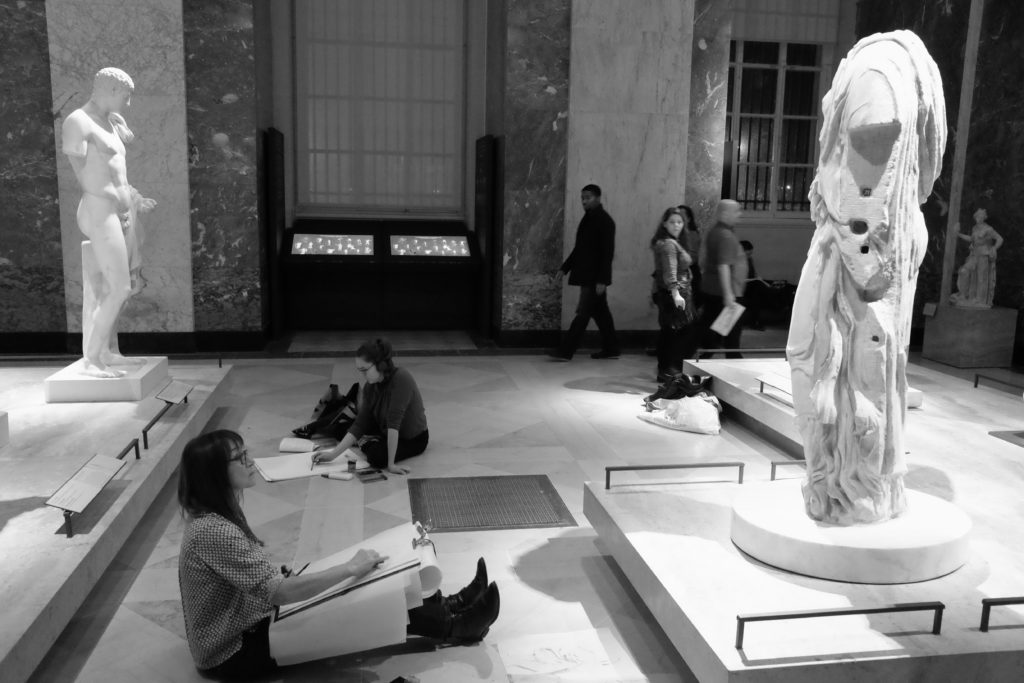drawing-at-the-louvre